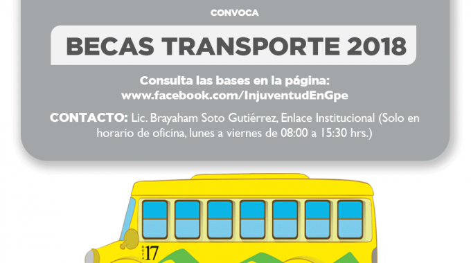 CONVOCATORIA BECAS TRANSPORTE MUNICIPIO DE GUADALUPE, ZAC.